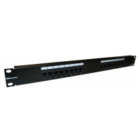 Patch Panel Brand-Rex 16 portas RJ45 Cat5Plus